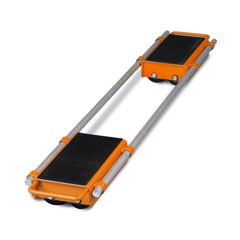 Platformele pot fi cuplate in perechi prin intermediul a doua bare metalice